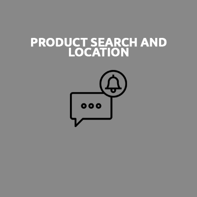 PRODUCT SEARCH AND LOCATION